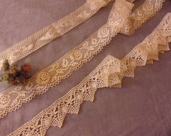 3 large and beautiful antique lace