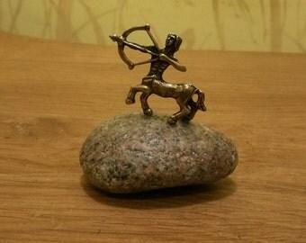 figurine Sagittarius/zodiac Sagittarius/zodiac statuette/miniature metal Sagittarius/metal statuete/