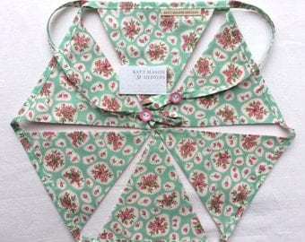 Green Floral Bunting
