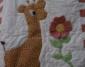 Giraffe Story Book Quilt