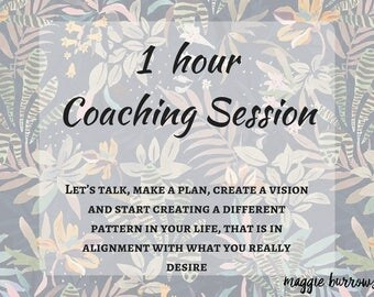 1 Hour Life Coaching Session ~ Women Empowerment - Get Unstuck and Discover your Purpose - Goal & Intention Setting - Personal Growth