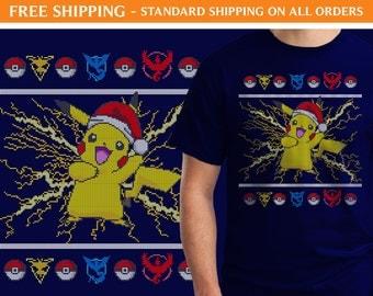 Pokemon Pikachu Ugly Sweater Shirt - FREE SHIPPING, Ugly Christmas Shirt, Pokemon Shirt, Pikachu Shirt, Ugly Sweater Shirt, xmas192