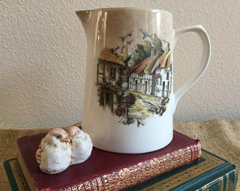 Lord Nelson Ware English Pitcher / Milk Jug / Vintage 1950s