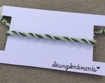 Spiral Twisted String Friendship Bracelet