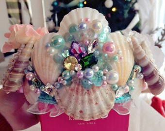 Princess Queen Mermaid Crown / hair accessories / jewellery / garland / for bridesmaid, wedding, photoshoot, gifts for her, birthday #006