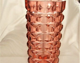 French Art Deco Vase, glass vases, vintage glass, large vintage vases. flower vases, french decor