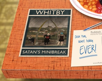 Whitby: Satan's Minibreak - A6 Rubbish Seaside Postcard