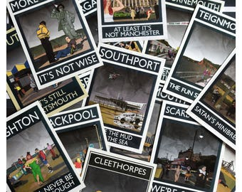 All 15 Rubbish Seaside A6 Postcards