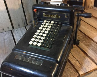 Vintage Adding Machine/Borroughs Adding Machine/Adding Machine