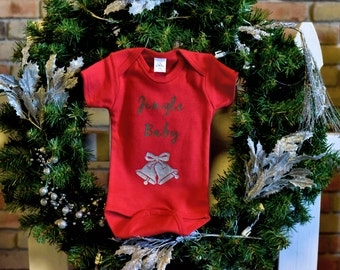 Cute Christmas Infant Onesie - Jingle Baby Design