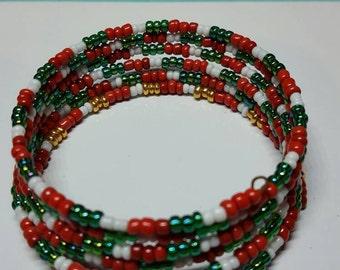 Festive beaded bracelet