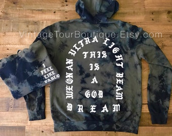 I Feel Like Pablo Hoodie Camo Olive The Life of Pablo Yeezy Yeezus Tour Merch