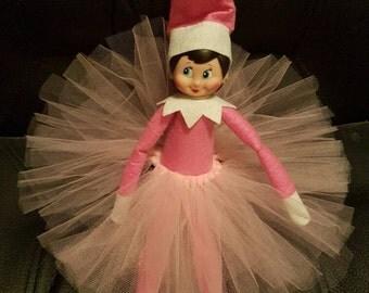 Light pink Elf on the shelf tutu skirt | Elf on the shelf clothes | elf costume | Elf on the shelf accessories | Christmas