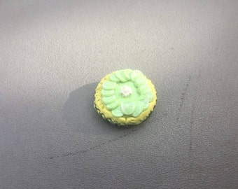 Polymer Clay Miniature Key Lime Pie