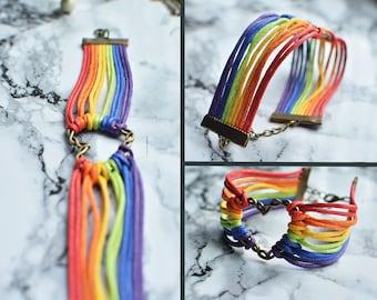 LGBT,  Rainbow Heart Bracelet