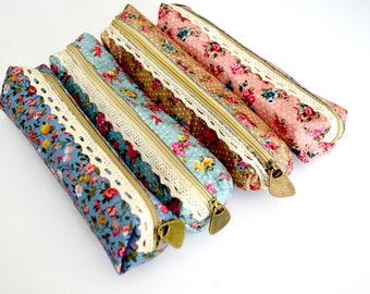 Vintage Style Floral Pencil Case