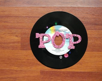 Music Sign on 45 Record - POP