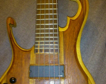 Guitar low LEFT-HANDED 6cordes luthier wood