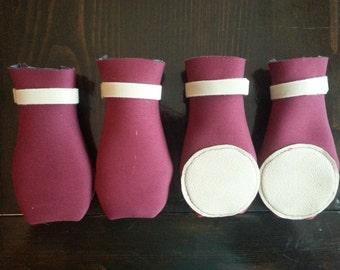 Dog Booties/Dog Shoes/Neoprene/Winter Dog Clothing/Water resistant dog booties/Handmade Dog Booties