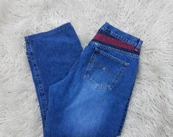 Vintage Tommy Hilfiger Jeans Embroidered Size 14