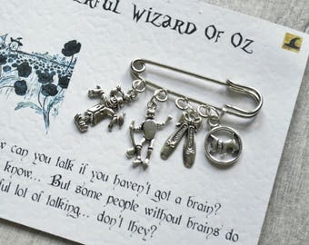 The Wizard Of Oz Brooch - Literary Gift, Book Lover Gift, L.Frank Baum, Literary Quote, Book Gifts