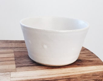 Matte White Ceramic Succulent Planter, Small, Cup, Teabowl, Ceramic, Wheel Thrown Pottery, Indoor Gardening, Housewarming/Birthday Gift