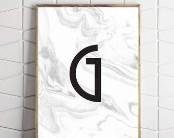 g modern decor, g printable art, g decor, g poster, g downloads, g decor art