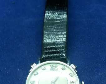 Hamilton 14k White Gold Men Watch with Fancy Lugs and Diamond Dial