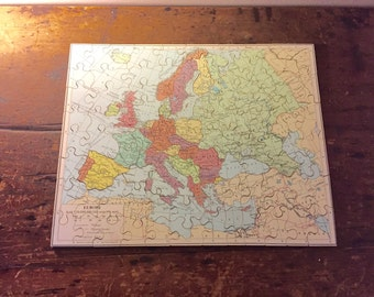 Vintage Victory Geographical Wooden Puzzle Circa 1950s