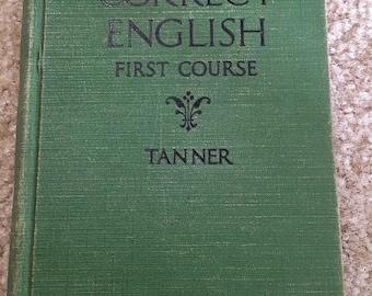 Correct English First Course Vintage Book