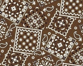Bandana Fabric- Brown Bandana Fabric