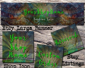 ETSY LARGE COVER Complete Set-Mystical Fantasy Cover Photo-Premade Fantasy Etsy Set-New Age Etsy- Large Cover,Etsy,Magical Etsy  #112