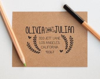 Return Address Stamp Self Inking, Wedding Address Stamp, Customized Wedding Gift, Couple Gift, Custom Address Stamp, Self Ink Stamp, Gifts