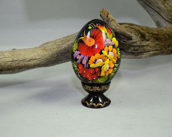 Petrykivka Hand-Painted Wood Egg