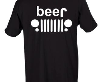 Jeep Beer Funny Graphic T-Shirt