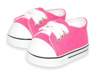 Pink Sneaker shoes converse style for 18 inch dolls
