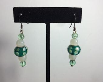 Green Glass Earring