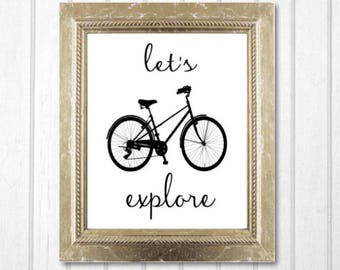 Bicycle Wall Art bike wall art | etsy