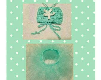 Girls' Starfish Crochet Bandeau Top, Tutu & Headband