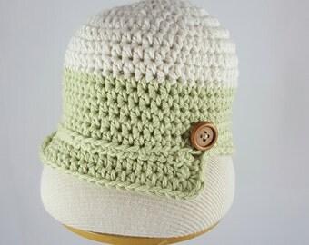 Handmade Baby Newsboy Hat Organic Cotton. Newborn Newsboy Hat, Crochet Newsboy Hat, Baby Boy Hat, Crochet Baby Newsboy Hat, Baby Shower Gift
