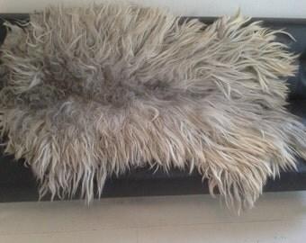 Silvergray felted animal friendly vega 'sheepskin'