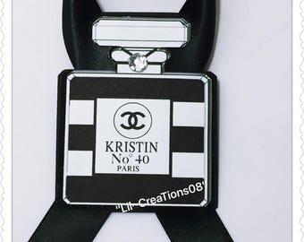 12 Coco Chanel Stripe Inspired Tags
