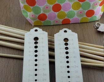 Thermometer lasercut wooden needle gauge