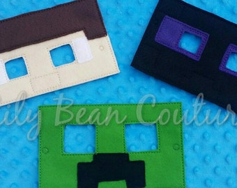 Block world dress up masks, cosplay, costume, Party Favor