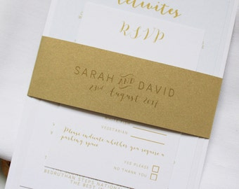 Simple Beach Wedding Invitations - Sample Set + Voucher