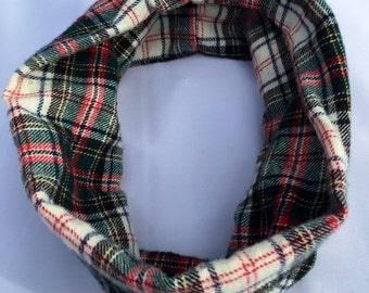 Baby flannel infinity scarf