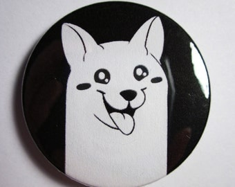 "UNDERTALE Lesser Dog Pinback Button (1.5"")"
