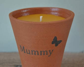 """Rose Scented Pure Beeswax Candle - """"Mummy"""""""