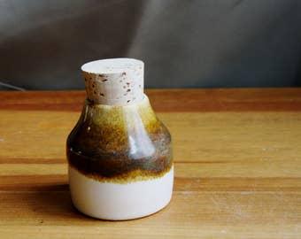 Ceramic Wheel Thrown Cork Stash Jar