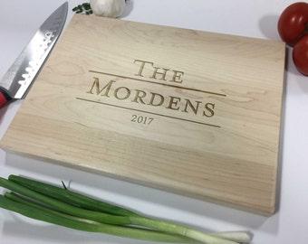 Personalized Cutting Board - Custom Cutting Board, Engraved Cutting Board, Wedding Gift, Housewarming Gift, Anniversary Gift, Christmas Gift